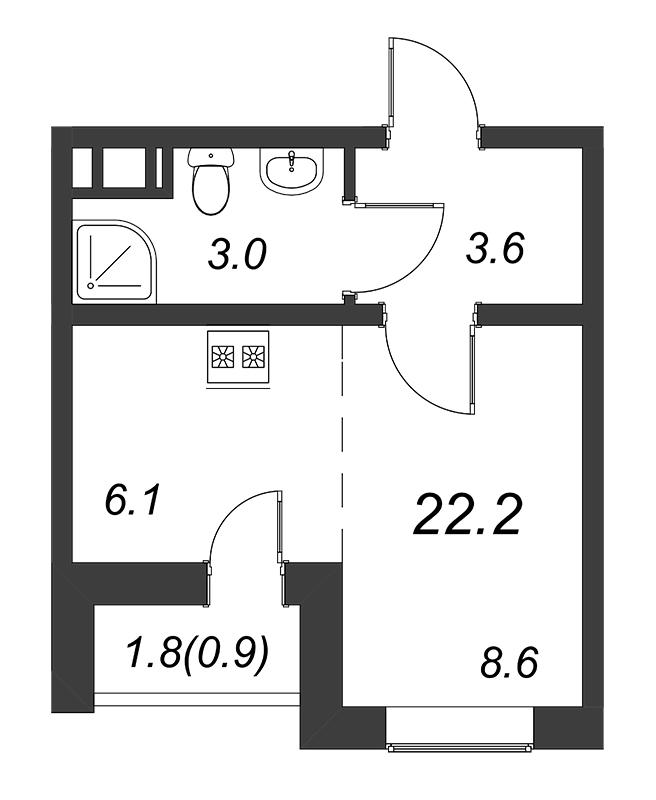Продам студию по адресу Россия, Ленинградская область, Санкт-Петербург, Муринская дор. фото 0 по выгодной цене